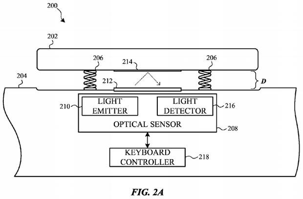 Apple Patent Keyboard Drawing