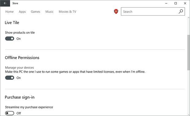 Windows Store Offline