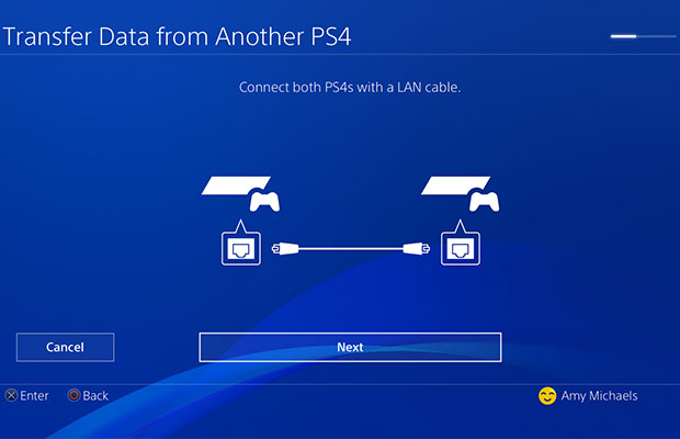 PS4 to PS4 Pro LAN Cable