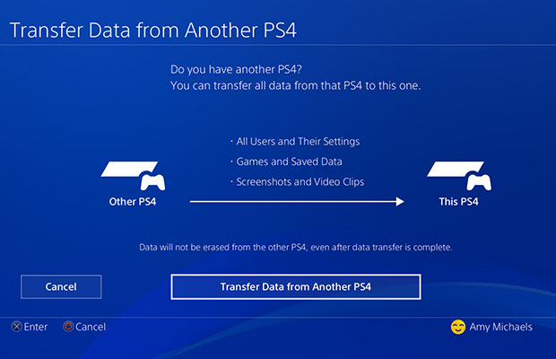 PlayStation 4 Data Transfer