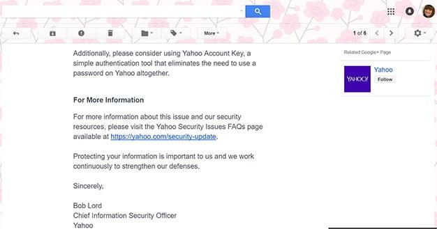 Yahoo Email Breach