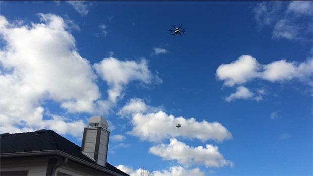 Flirtey Drone Hovering