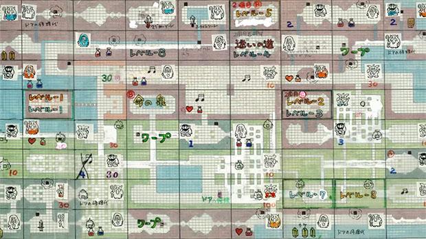 Legend of Zelda Sketched Map