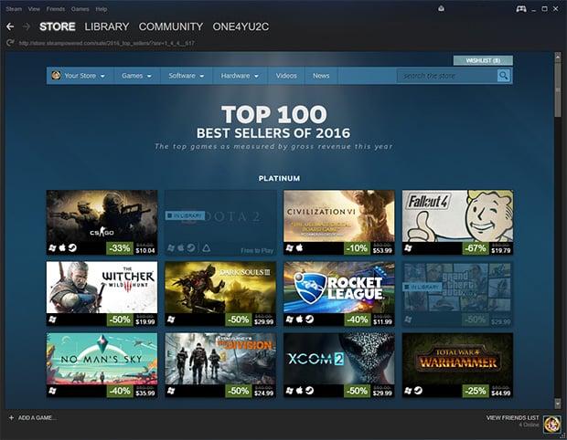 Steam Top 100