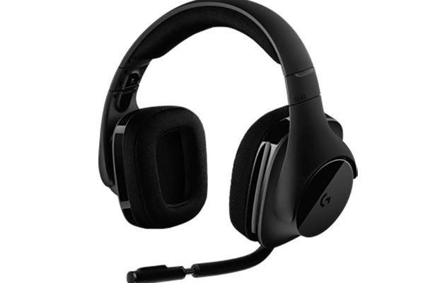 with headset