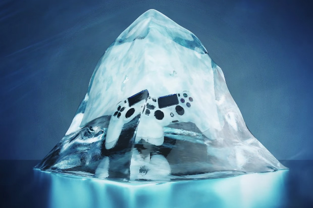 PlayStation 4 Glacier White Frozen