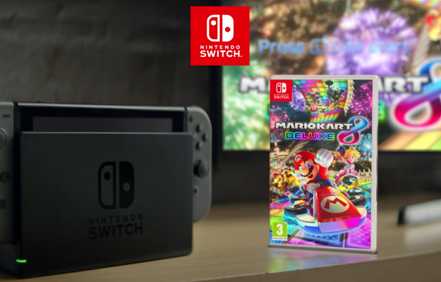 nintendo peeks mario kart 8 deluxe in switch commercial but what 39 s up with the guy on the toilet. Black Bedroom Furniture Sets. Home Design Ideas