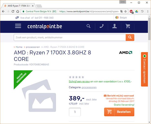 AMD Ryzen Pre-order