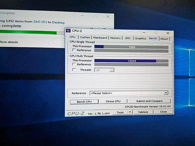 AMD Ryzen 5 1600X CPU-Z Benchmarks