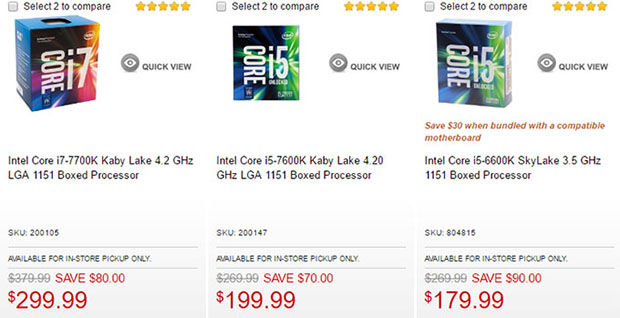 Intel CPU Sale