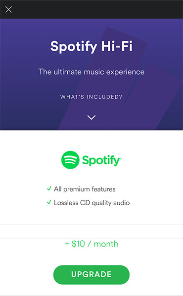 Spotify Upgrade