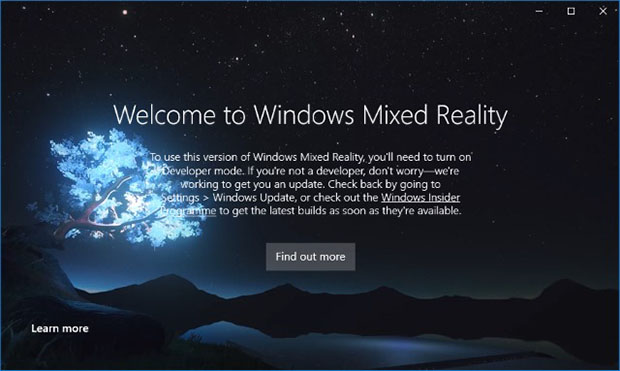 Windows 10 Mixed Reality Portal