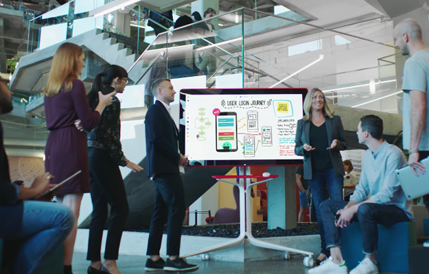 Google's 55-inch 4K Jamboard Takes On Microsoft Surface ...