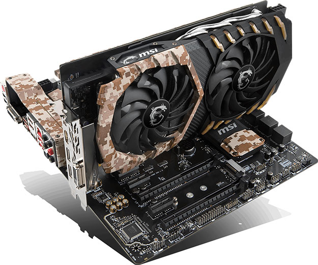 MSI Camo Squad Motherboard And GeForce GTX 1060camo