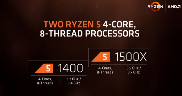 amd ryzen 5 quad core processors