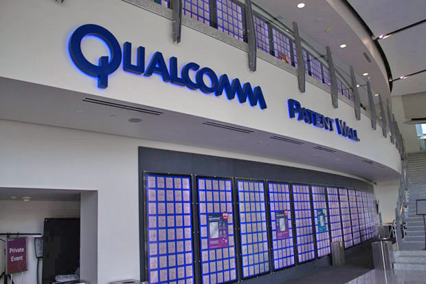 Qualcomm patent wall QCOM Headquarters