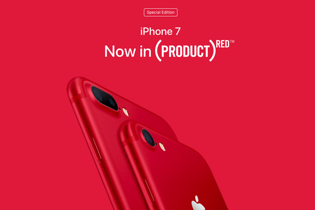 iphone 7 red banner