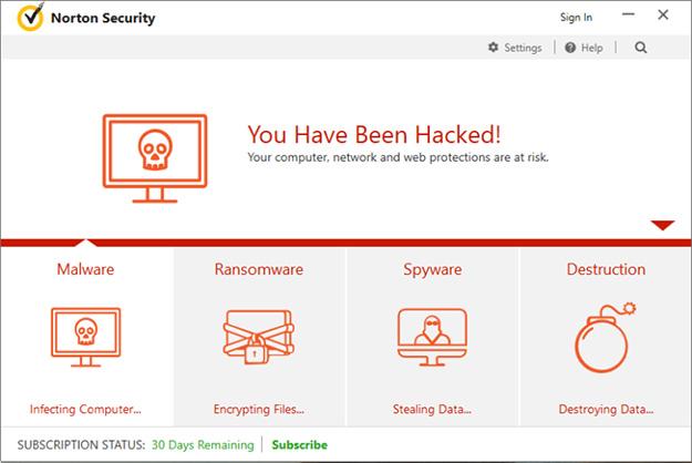 Norton Security Hacked