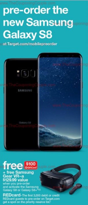 Target Samsung Galaxy S8 Pre-Order Ad