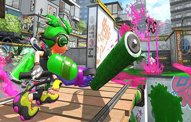 splatoon 2 green versus pink game play