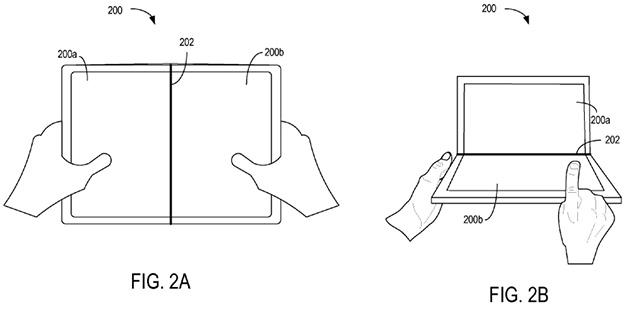 Microsoft Patent Folding Display