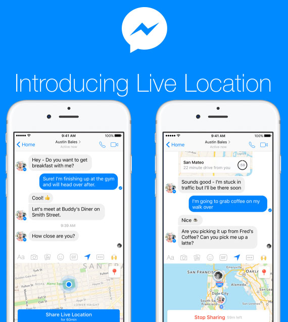 Facebook Live Location