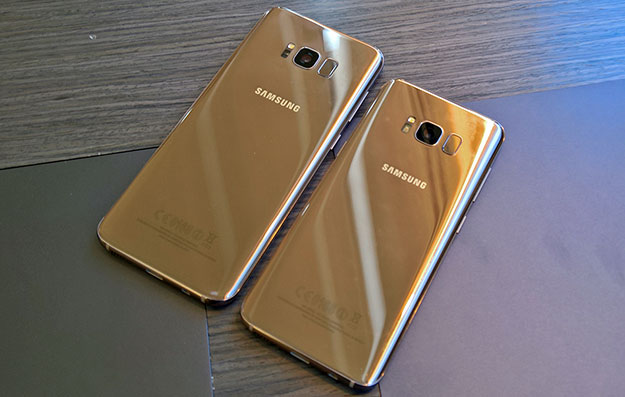 Samsung Galaxy S8 and S8 Plus back