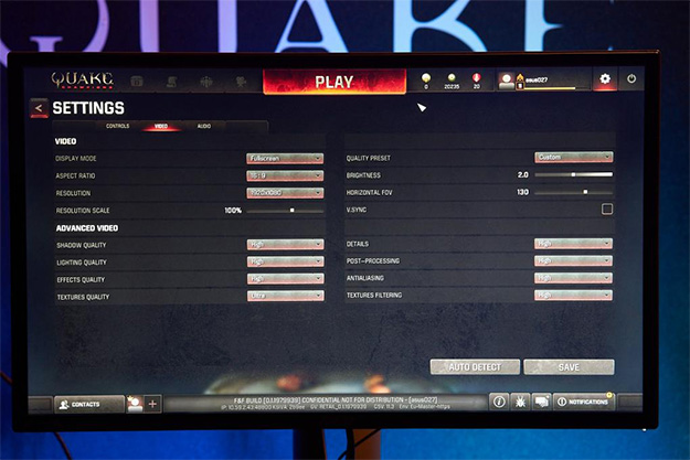 Quake Champions Menu