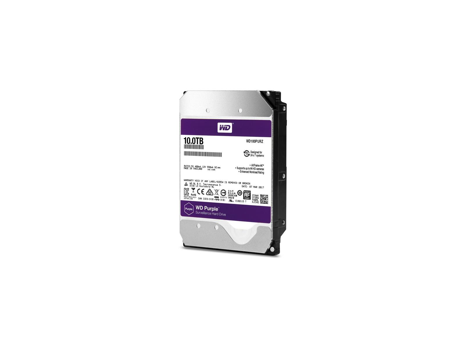 WD Purple Family Expands With Bodaciously Big 4K Ready 10TB
