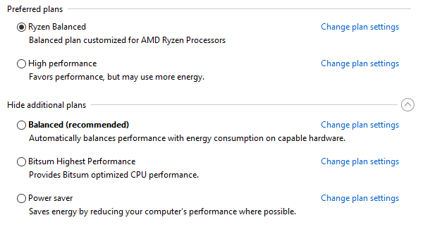 AMD Power Plans