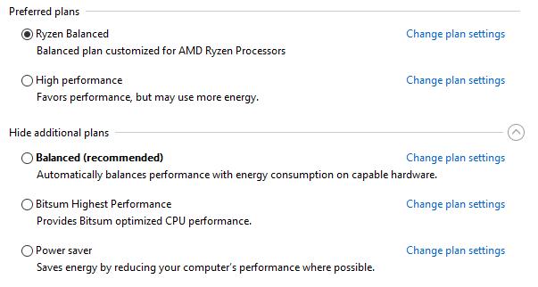 AMD releases tweaked Windows 10 Ryzen power plan settings