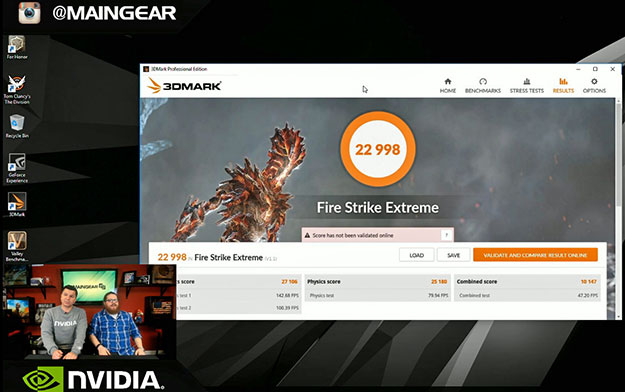 NVIDIA Titan Xp In SLI - 3DMark Fire Strike Extreme Score