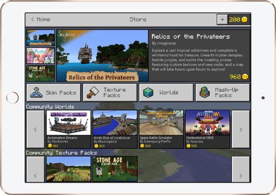 Minecraft Apple iPad