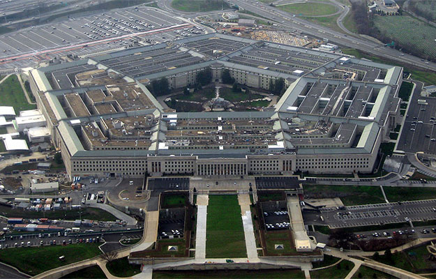 aerial view of pentagon