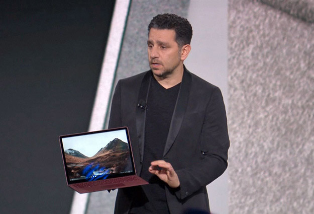 Panos Panay with Surface Laptop