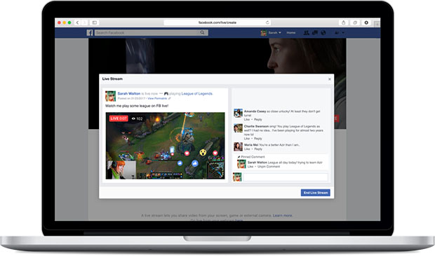 Facebook Game Streaming Notebook