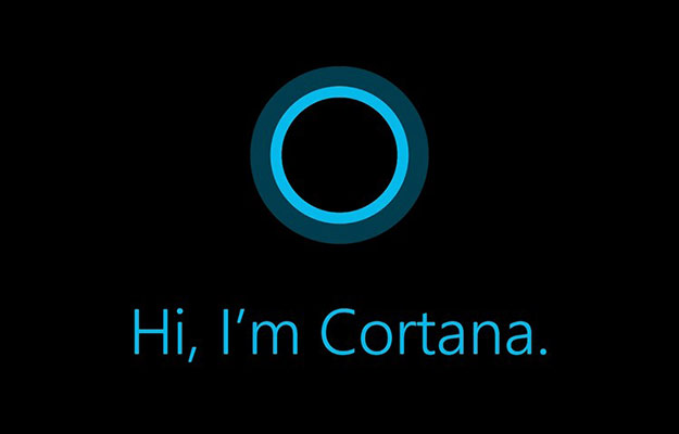 cortana interface greeting
