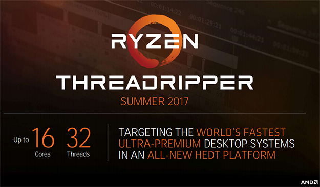 AMD ThreadRipper Slide