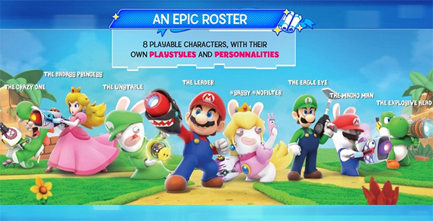 Mario + Rabbids Characters