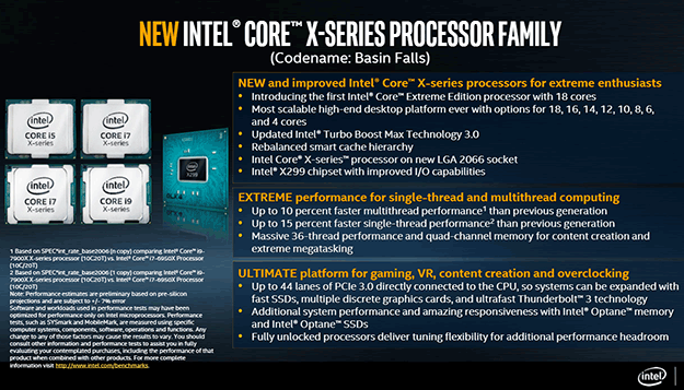 Intel Core X Processor Family Features