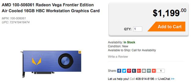 Radeon Vega Frontier preorder