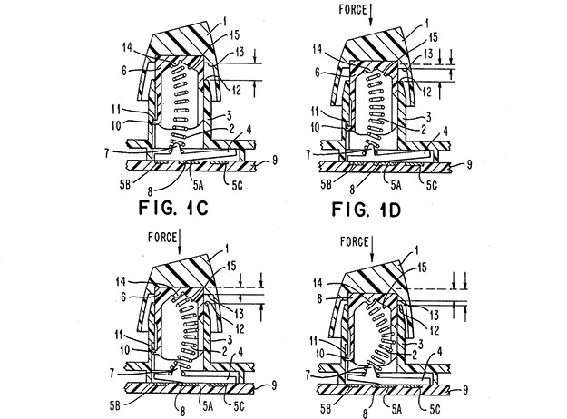 buckling spring patent