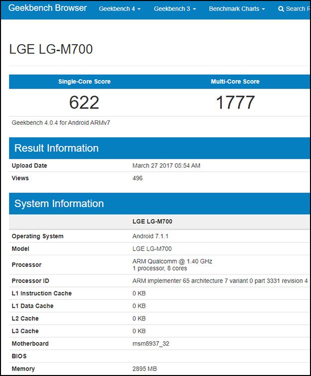 LG Q6 Geekbench