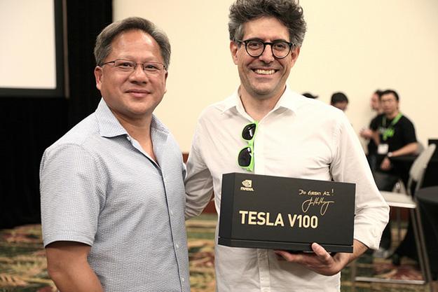 Autographed Tesla V100
