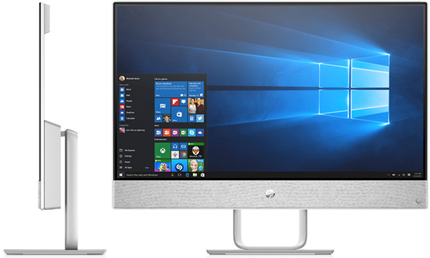 HP Pavilion All-In-One Front and Side