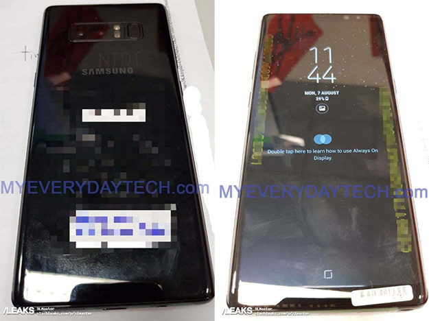 Samsung Galaxy Note 8 Front and Back