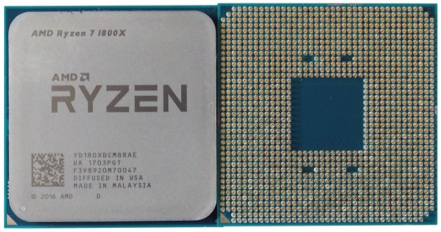 ryzen cpu top and bottom