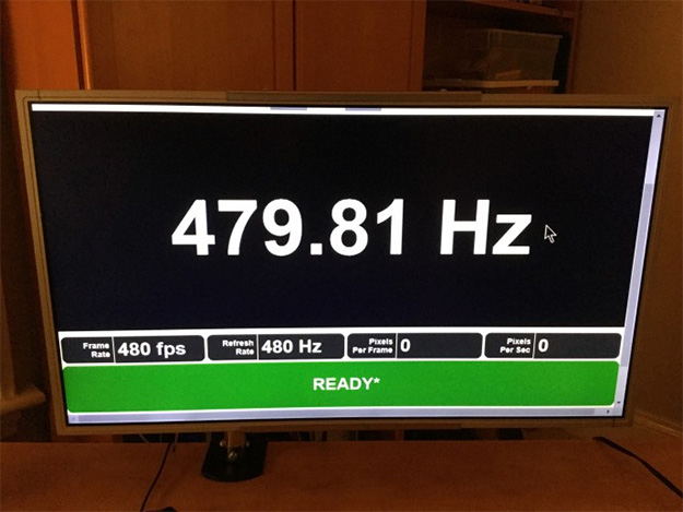 Refresh Rate Freaks, Look! A 480Hz Monitor Prototype Spotted