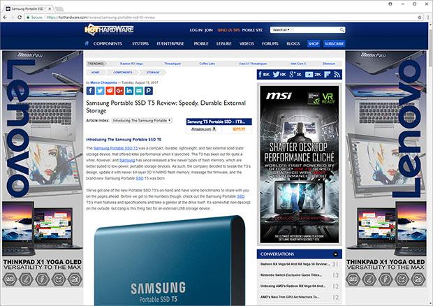 HotHardware Chrome 61