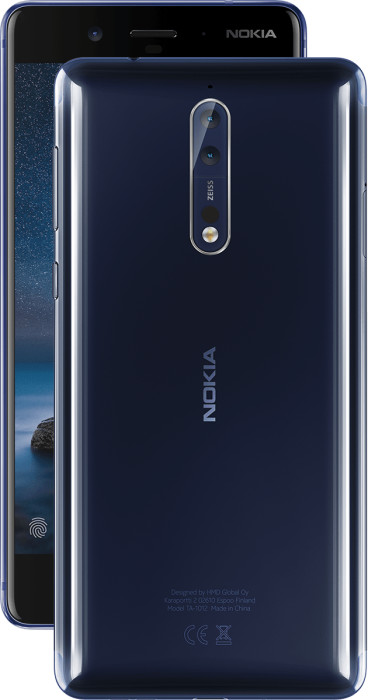 Nokia 8 color variant Tempered Blue Polished